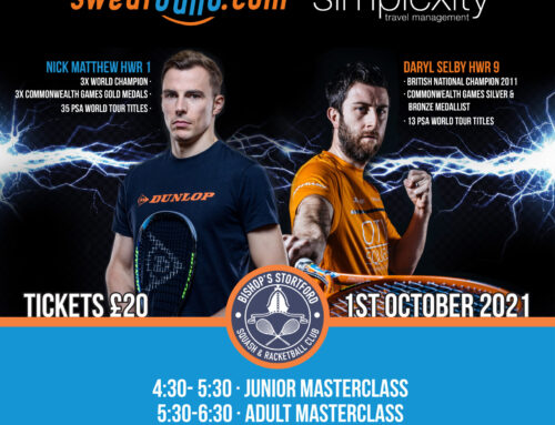 Bishop's Stortford Squash & Racketball Club to Host Exhibition on 1st October